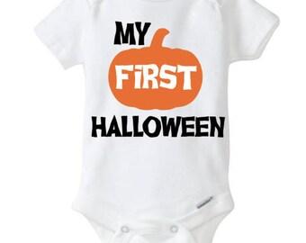 My first halloween Boy's Baby Boy's Halloween bodysuit