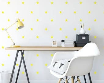 Wall Decal Stars Color yellow, Wall Stickers, Star Wall Stickers, Nursery Wall Decal, Home Decor, Kids Room