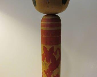 """12 1/2"""", Vintage Handmade Japanese Wooden """"Naruko"""" Style Extra Large Kokeshi Doll"""
