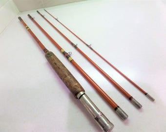 Vintage Fly Fishing Rod, Wright & McGill Eagle Claw Trailmaster 7 1/2 ft fiberglass