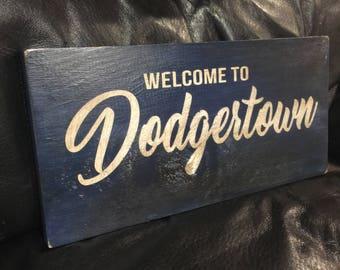 Welcome to Dodgertown | Baseball Sign | Los Angeles Dodgers | Distressed Wood Handmade | Boys Decor | Man Cave | Vero Beach Florida