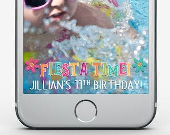 Custom Snapchat Filter, Fiesta Birthday, Kid Birthday, Tween Birthday Party, Snapchat Geofilter, Fiesta Snapchat Filter, Bachlorette Filter