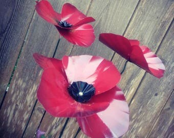 Metal Garden Stake,  Poppy Flower,  Metal Garden Art,  Metal Garden Decor,  Flower Yard Decoration