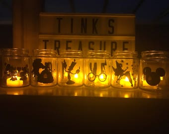 Inspired silhouette tealight led candle holder