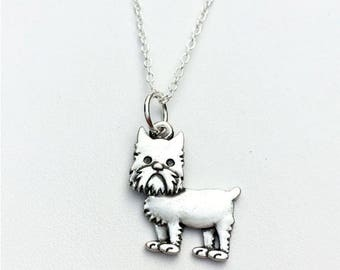 Brussels Griffon Charm Necklace