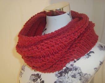 Scarf loop infinity scarf dark pink