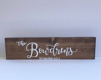 Wood sign, wooden sign, home decor sign, family sign, established sign family sign, last name sign, last name wooden sign, rustic sign
