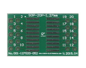 "SO20,SOP20,SOIC20 1.27mm(0.05"") to 2 x IDC2x5 connector."