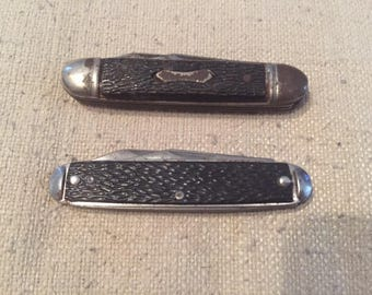Pair of Vintage Ideal Brand Pocket Knives