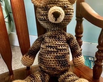 Crochet Teddy Bear Plushie, Teddy Bear Plush, Children's Teddy Bear