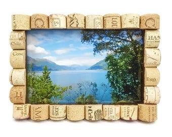 Cork Picture Frame, Wine Cork Decor, Wine Frame, Cork 4x6 Frame, Cork 5x7 Frame, Wine Cork Gift, Wine Theme, Cork Picture Frame