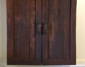 Dartboard cabinet, chalkboard, dart board
