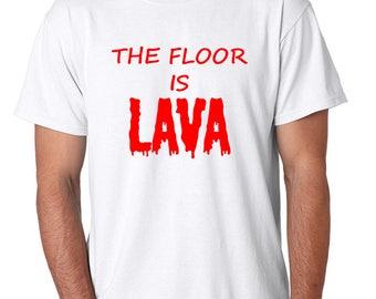 The Floor Is Lava Men's Tee Shirt Red Print