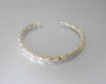 Karen Hill Tribe Silver Bangle -Sterling Silver Bracelet - Silver Bracelet Women