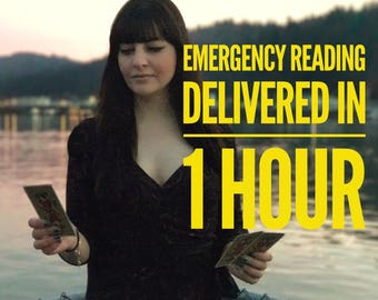 EMERGENCY 2 Question Psychic Reading - Receive within ONE HOUR- email/pdf