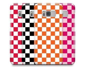 Samsung Galaxy Case, Galaxy S8 Case, S8 Plus Case, Galaxy S7 Case, S6 Case, Galaxy S6 edge Case, iPhone Case, iPhone 7, Checkered Print