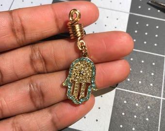 Hamsa Hair/Dread/Loc/Braid Spiral Coil Bead/Jewelry