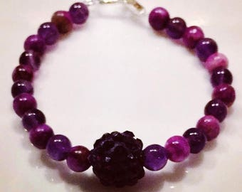 Natural Amethyst and Sugilite Baby Bracelet