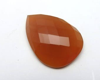 29Cts 30X20X8mm Honey Chalcedony Loose Gemstones Pear Faceted Checkerboard Cut Gorgeous Top Quality Jewellery Making Precious Gems RG-008