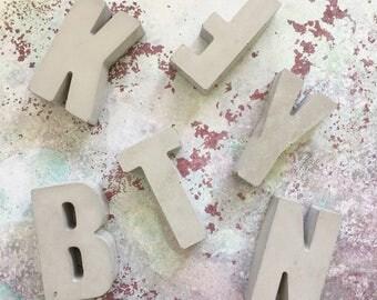 Concrete Letters / Custom Handmade A - Z Alphabet