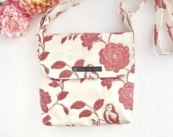 Floral bag, retro bag, festival bag, floral purse, flower bag, small handbag, floral crossbody bags, fabric bags, womens handbags