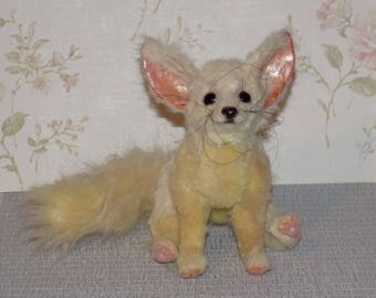 """Fennec, made to order, poseable fennec, little cube, sand fox, little fox, art doll, 7"""""""