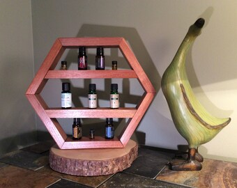 Essential Oil Display Rack - Mahogany Wood