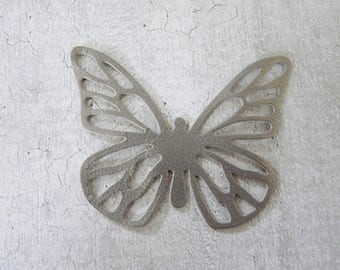 large Butterfly with perforated leather, bronze iridescent