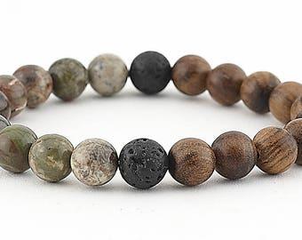Lava bead bracelet, essential oil, diffuser bracelet, agate, stretch bracelet, essential oil bracelet, jewelry, aromatherapy, yoga, mala