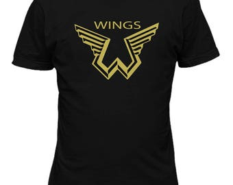 Paul McCartney Wings Logo Music T shirt Music 46