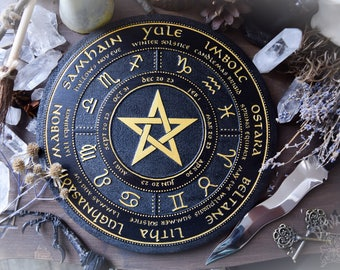 Wheel of the year, Black,pentagram