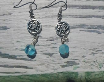 Merida Charm Earrings, Scottish Princess, Celtic Earrings, Will O The Wisp, Celtic Myth, Fairytale Princess, Gifts For Her, Free Shipping