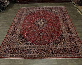 Nice Hand Knotted S Antique Plush Mashad Persian Rug Oriental Area Carpet 10X13