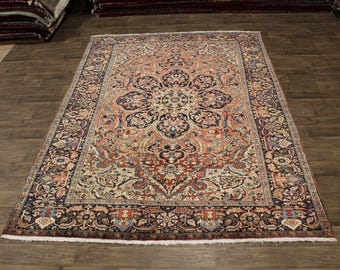 Excellent Handmade Muted Heriz Goravan Persian Rug Oriental Area Carpet 8X11
