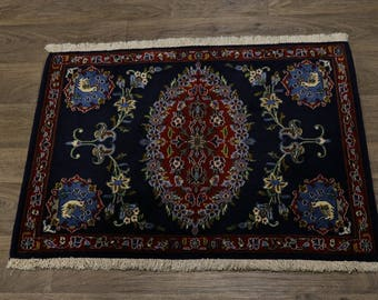 Excellent One of a Kind Small Kashan Persian Rug Oriental Area Carpet 2'6X3'3