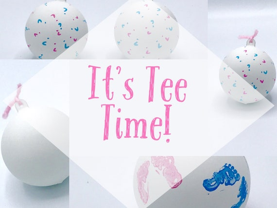 GOLF BALL Gender Reveal Balls Pack (Custom Color Combinations and Styles) Golf Gender Reveal
