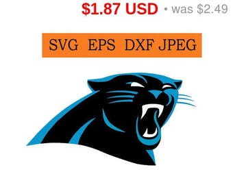 Sale 25%  - Carolina Panthers logo in SVG / Eps / Dxf / Jpg files INSTANT DOWNLOAD!