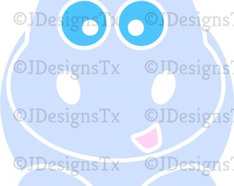 Cute Hippo SVG