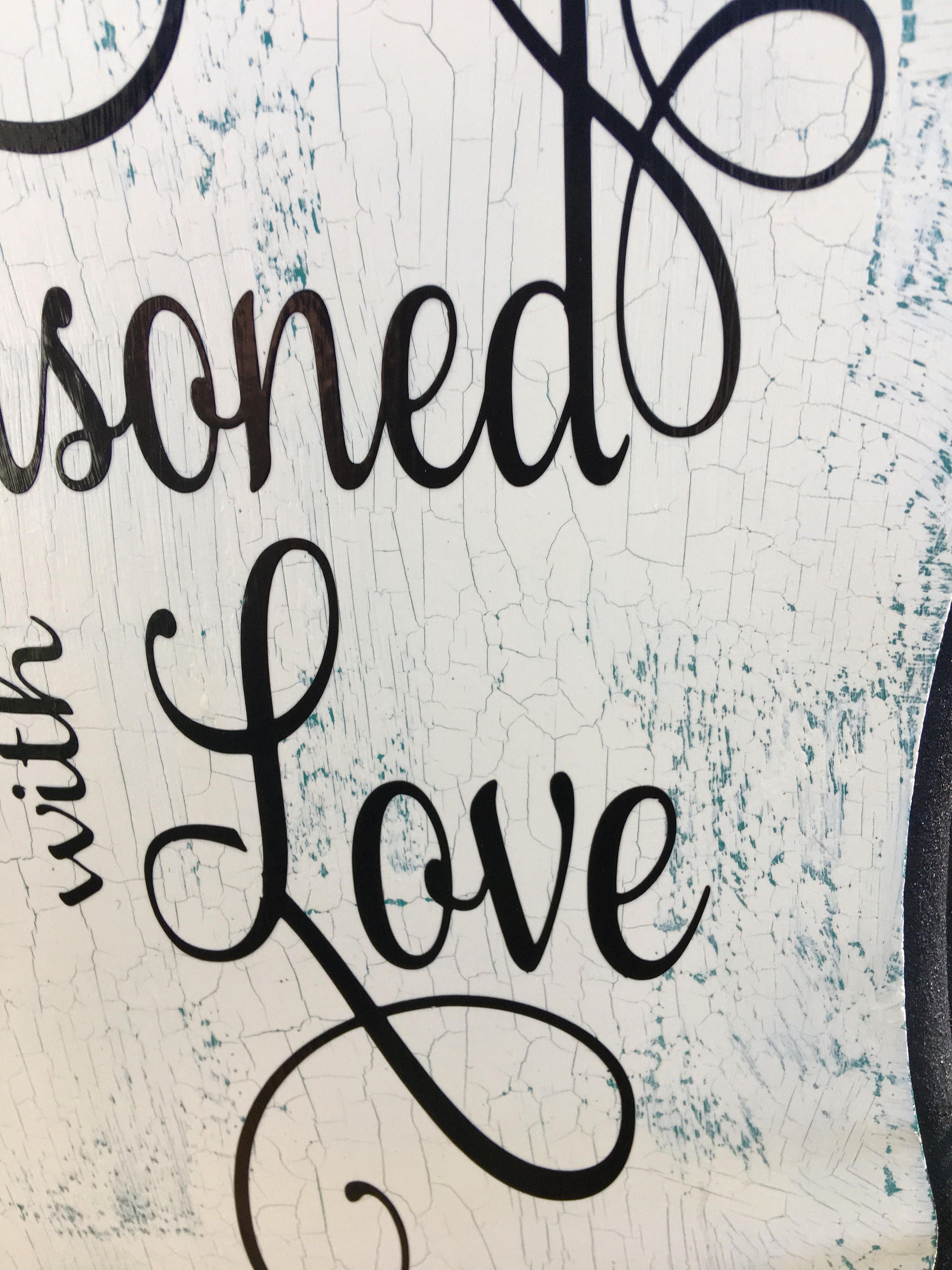 ... Love Home Decor Sign By This Kitchen Is Seasoned With Love Sign Kitchen  Wood Sign Home ...
