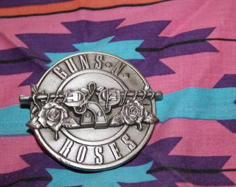 Vintage Guns n Roses belt buckle // Guns N Roses // Guns N Roses shirt // 90s Guns N Roses Belt Buckle // Guns N Roses Belt Buckle //