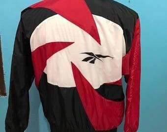 Vtg 90s Reebok windbreaker jacket made in taiwan