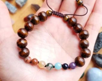 Chakra Love (dark wood) bracelet