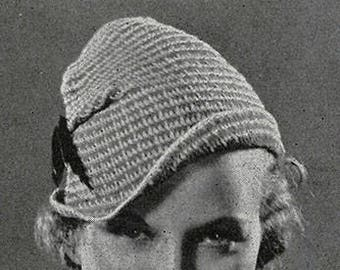 Cappello tirolese all'uncinetto anni 30 - Tyrolean Hat