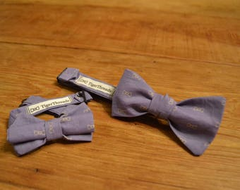 The Tiger Bow Tie, LSU Purple, Gold, Father Son, Matching Bow Ties, Handmade CUSTOM ORDER, Pre-Tie or Self-Tie | Mens, Boys, Toddler or Baby