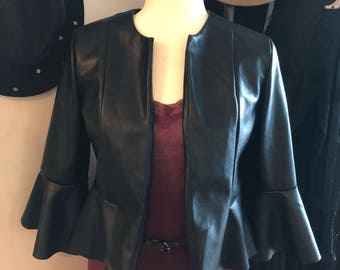 Suede Leather Jacket// Size S-M