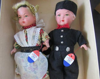 Vintage Rozetta Holland Dolls (Amsterdam) With Original Hang Tags in Original Box  2338