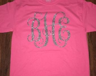 Full Monogram T-Shirt, Full Monogram Tee Shirt, Monogram Shirt, Monogram T-Shirt, Initial Tee Shirt, Initial T-Shirt