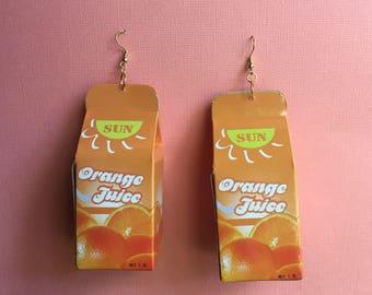 Orange Juice Earrings