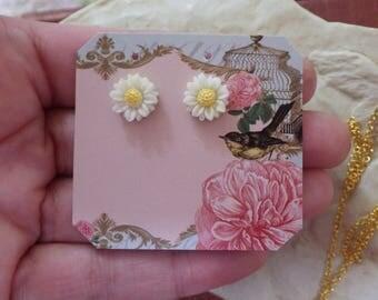 Daisy Earrings ~ Daisy ~ Post Earrings ~ Small ~ Wild Flowers ~ Hypoallergenic ~ By WakesThe Dawn