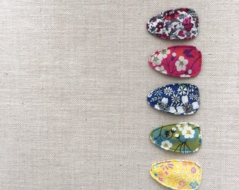 Liberty of London print mini snap clips baby snap clips for fine hair
